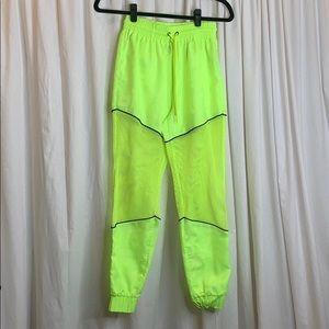 LF The Brand Neon Mesh Sweatpants